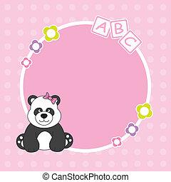 Panda bear pink framework