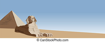 Sphinx - Background illustration of the sphinx and the...