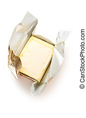 Margarine isolated on the white background