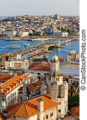 Istanbul Cityscape - City of Istanbul in Turkey, view from...