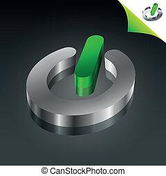 Conceptual Green Energy Power Icon