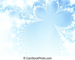 Frost-work - Abstract ice-flowers