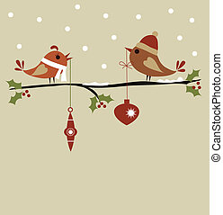 template of christmas card , vector illustration