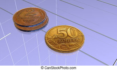 Schedule of financial growth A stack of coins