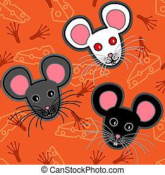 Seamless mice pattern - Seamless pattern of cute and fun...
