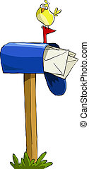 Mailbox on a white background, vector illustration