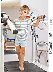 Boy on a Treadmill