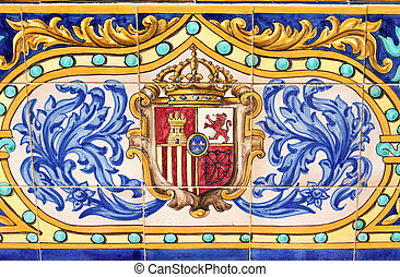 Coat of Arms - Spain - Coat of arms of Spain. Famous ceramic...
