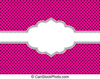 Pink Polka Dot Background - Background with black and pink...