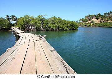 Cuba - Baracoa, Cuba - Rio Miel bridge, part of Alejandro de...
