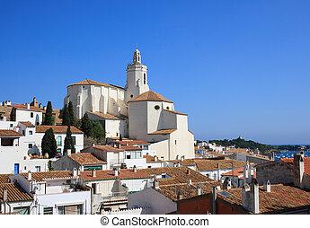 Santa Maria church (Cadaques, Costa Brava, Spain)