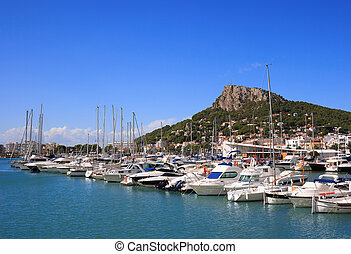 Estartit port (Costa Brava, Spain) - Sailing boats and...