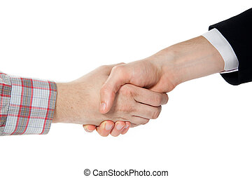 consensus - handshake between a farmer and a businessman...