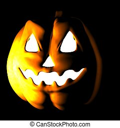 ease - a pumpkin in his scary halloween expression
