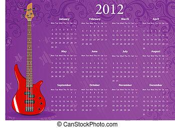 Vector European calendar 2012