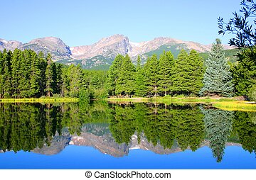 Sprague Lake - A view of Rocky Mountain National Park...