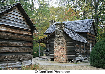 Homestead - An early American homestead