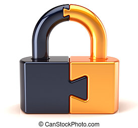 Puzzle lock padlock security - Lock padlock security data...