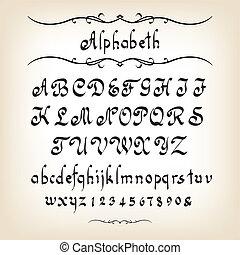 Alphabet - Calligraphic alphabet