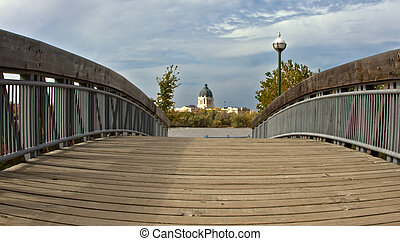Saskatchewan Legistralive Building - Bridge leading to the...