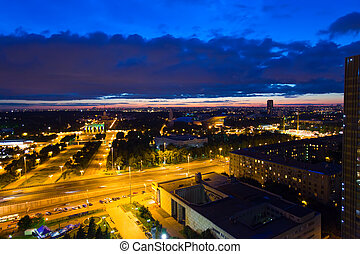 The top view on VDNH All-Russia Exhibition Centre, Moscow,...