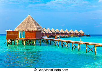 Maldives Villa on piles on water