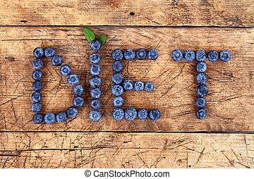 Fruit diet, concept