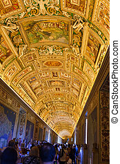 Italy Rome Vatican Museums - Gallery of the Geographical...