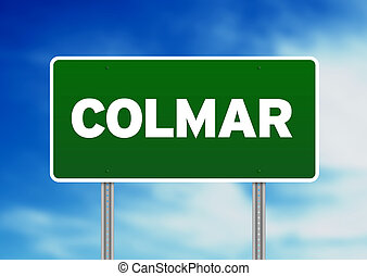 Green Road Sign -  Colmar, France
