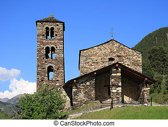 Sant Joan de Caselles (Canillo, Andorra). Romanesque church...