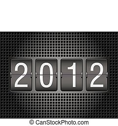 2012 year on mechanical scoreboard