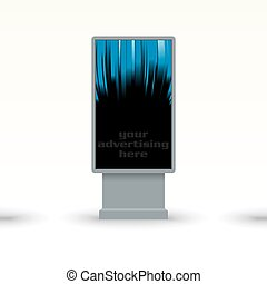 outdoor advertising citylight - vector illustration