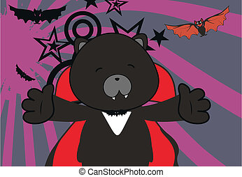 panther dracula cartoon background