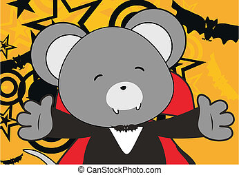 mouse dracula cartoon background