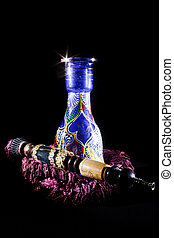hookah on a black background