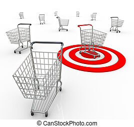 One Shopping Cart Buyer Targeted Marketing Unique Customer -...