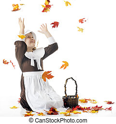 Catching Falling Leaves
