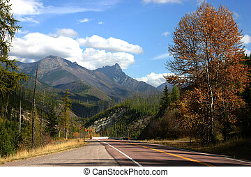 Route 2 - A scenic portion of highway 2 in western Montana