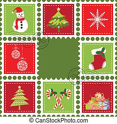 Set of Christmas stamp postage - Sets of colorful Christmas...