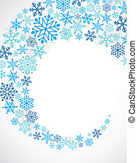Christmas blue background with snowflakes pattern -...
