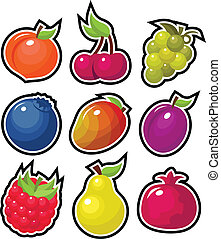 Yummy Fruits - Set of yummy colorful fruits.