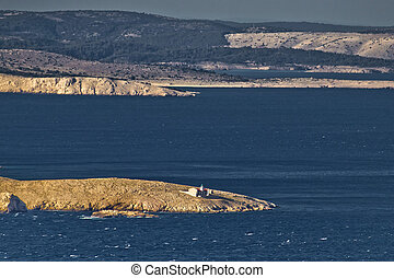 Kvarner bay islands and Prvic lighthouse - Kvarner bay...