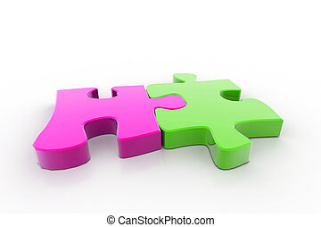 Two parts of puzzle