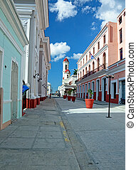 Cienfuegos - colonial town architecture, Cuba. UNESCO World...