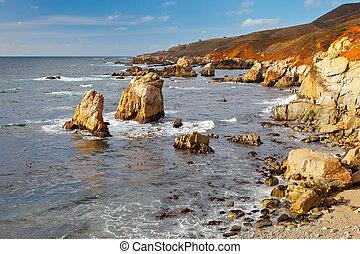 Big Sur Pacific Ocean coast - Pacific Ocean coast,...