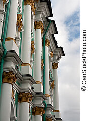 Architecture of the building Hermitage close