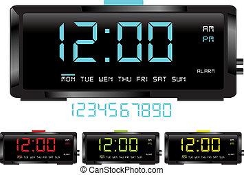Digital clocks vector