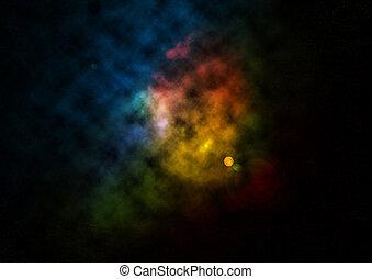 space nebula - Illustration of a space nebula