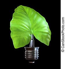 light bulb leaf