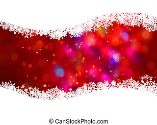 Defocused abstract christmas background. EPS 8 vector file...